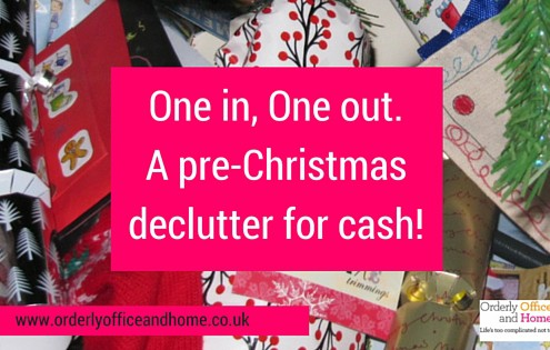 Orderly office and Home - Pre-Christmas declutter