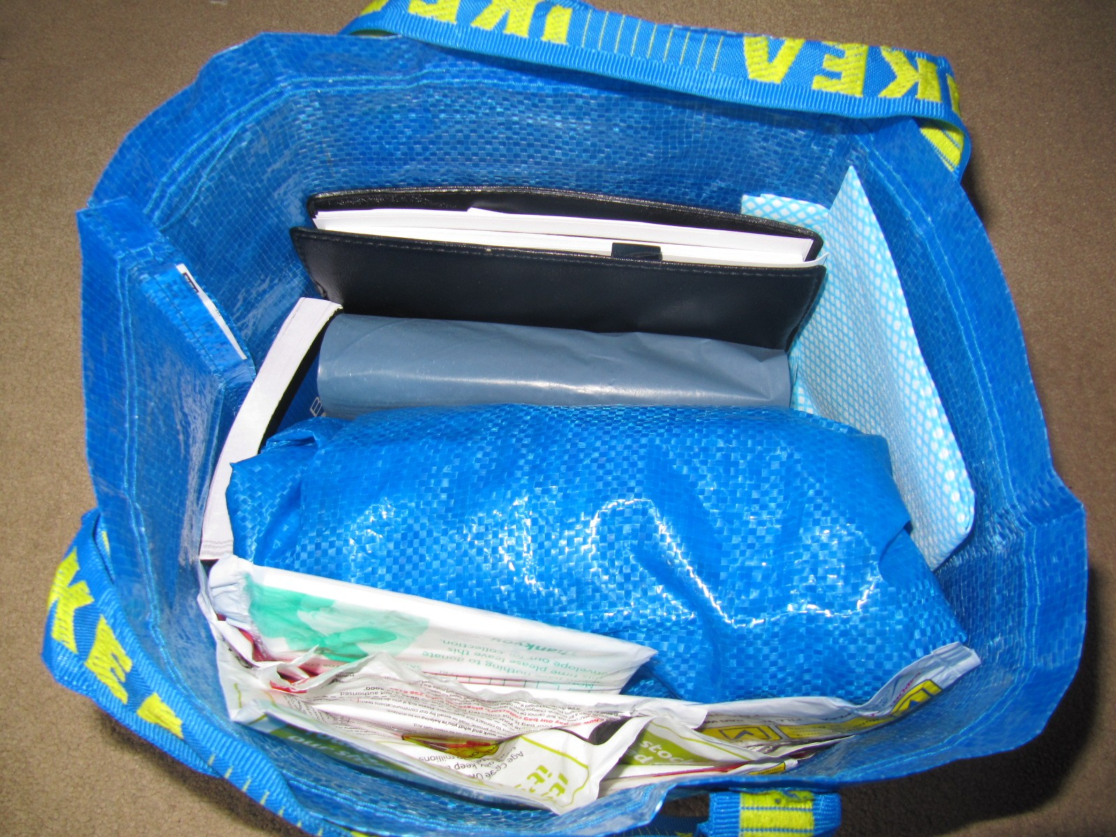Ikea Baby Blue DeclutteringBag