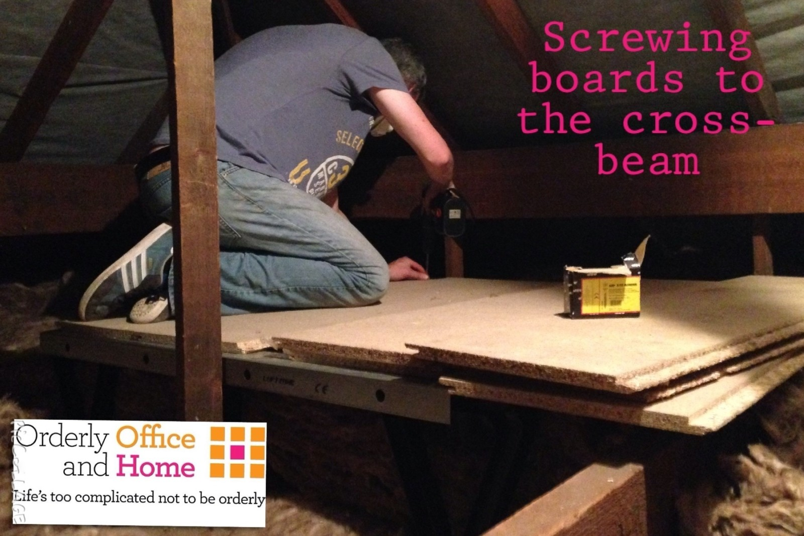 Screwing boards to Loft Zone cross-beams