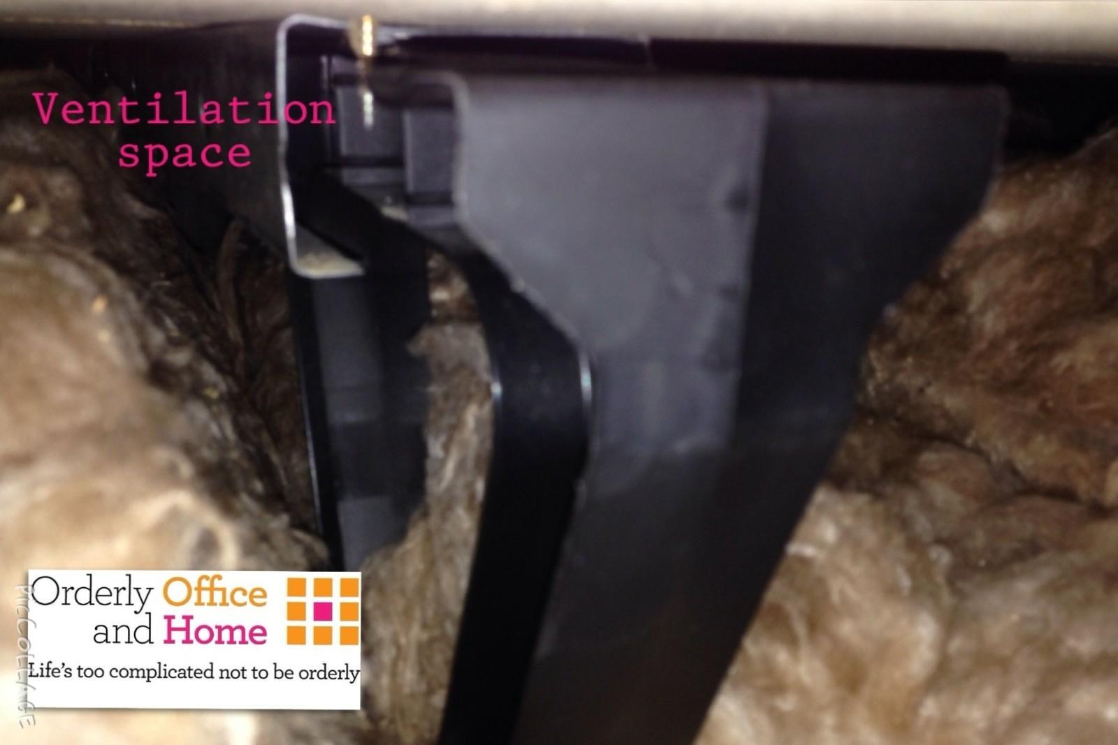 Ventilation underneath the loft boards