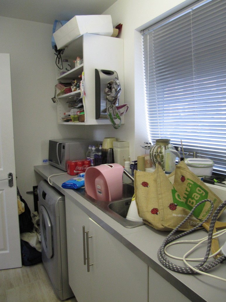 Orderly office and home utility room declutter for Utility room office