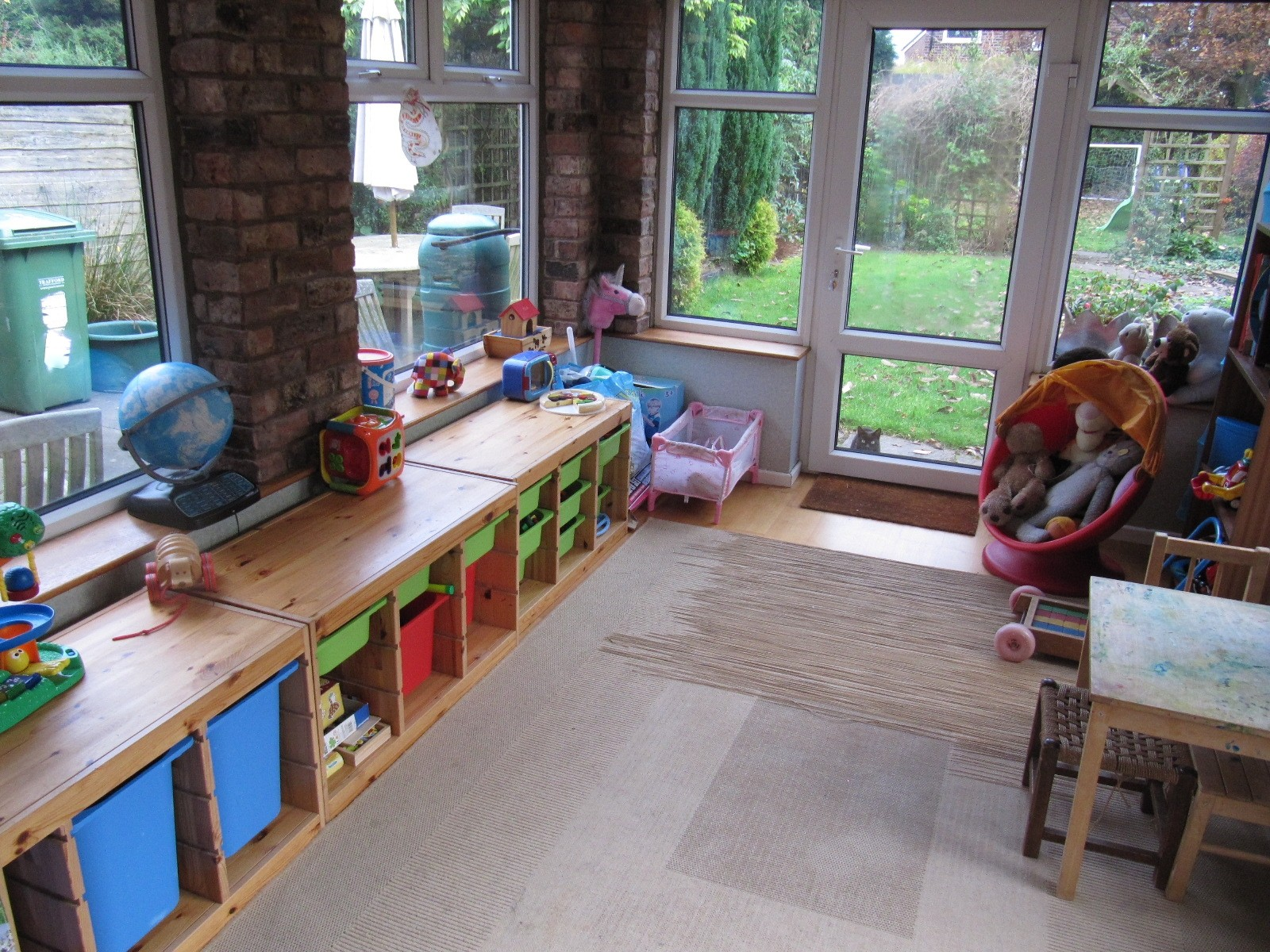 Decluttered playroom