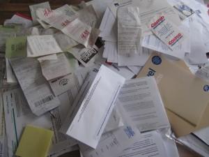Paperwork to sort
