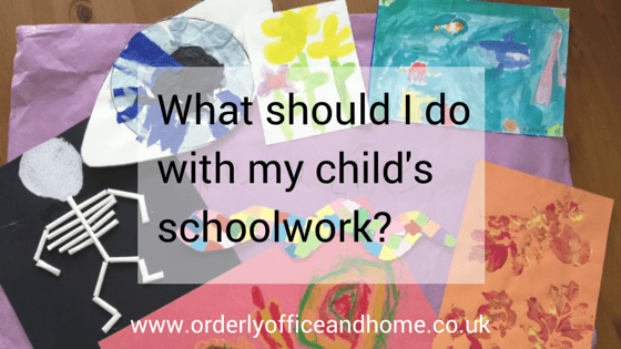 What do I do with my child's schoolwork