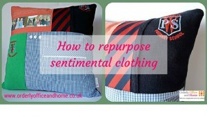 Orderly Office and Home blog - repurpose sentimental clothing