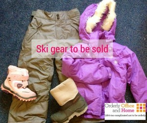 Ski gear to be sold by Orderly Office and Home - National Organising Week