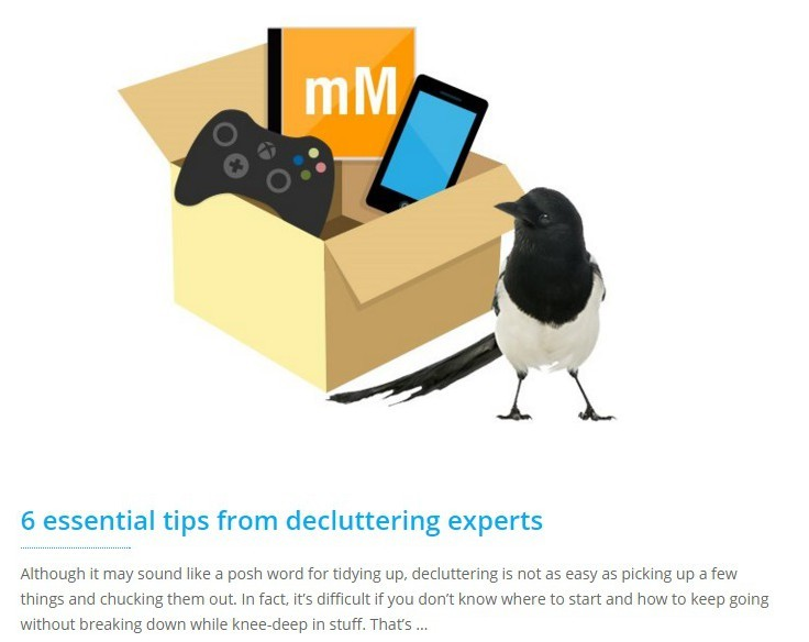 essential decluttering tips from Orderly Office and Home for musicMagpie