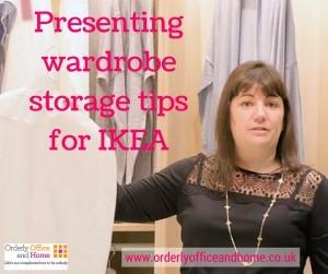 Presenting wardrobe storage tips for IKEA