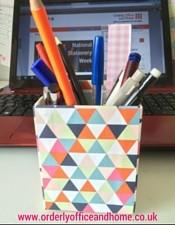 Pens in a pen holder