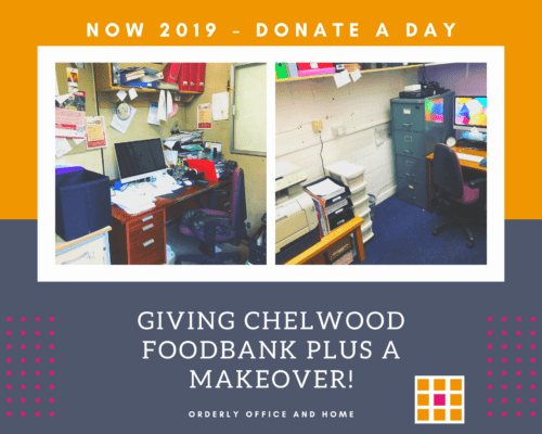 NOW 2019 Donate a Day - Orderly Office and Home